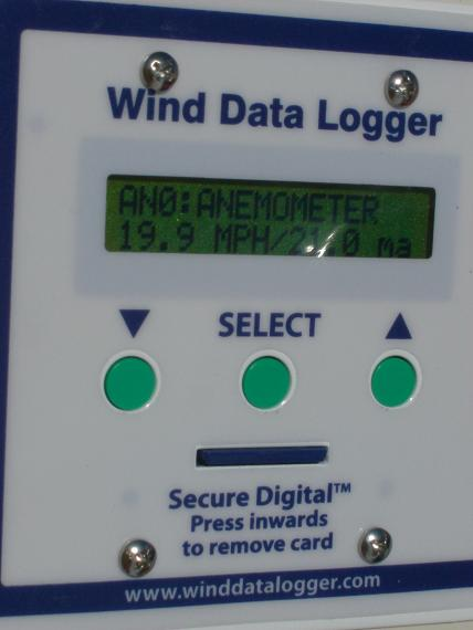 Initial readings from the Polar Edition Wind Data Logger