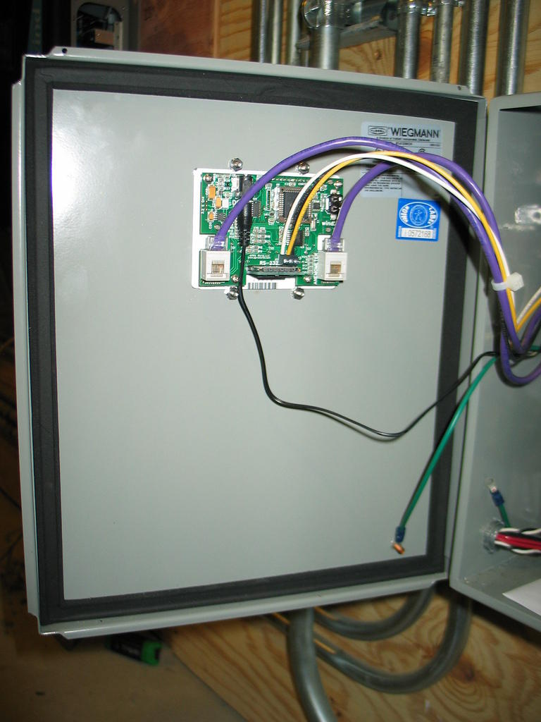 Data logger is mounted through the enclosure door