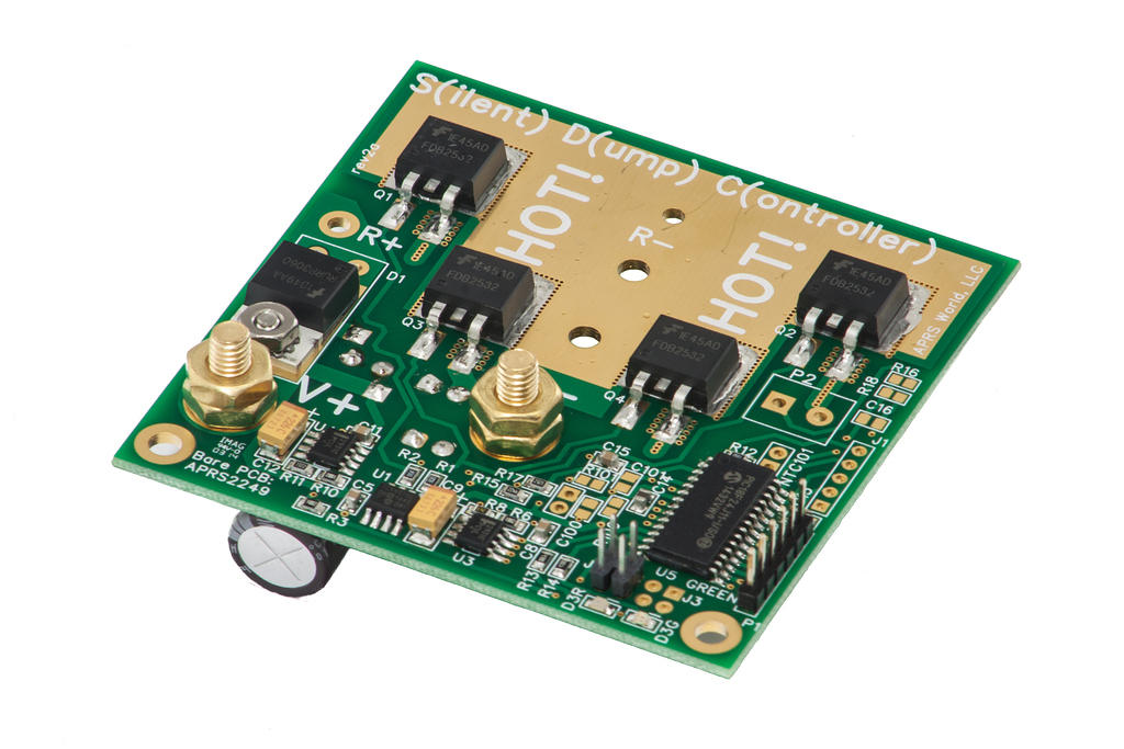 APRS8412: SDC300 Dump Load, board only, 12 volt; APRS8413: SDC300 dump load, board only, 24 volt