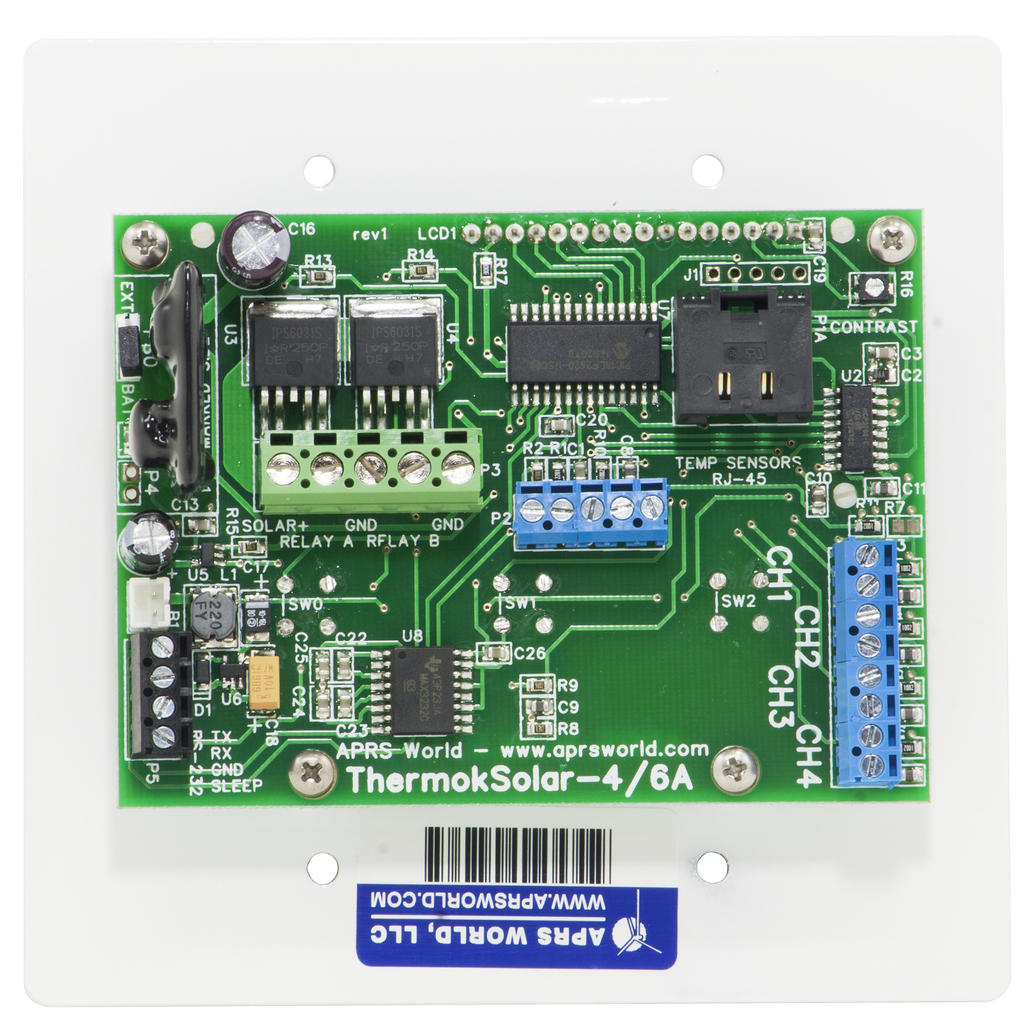 APRS5503: ThermokSolar-4A, Module Only, with RS-232 and Counter Option (back view)