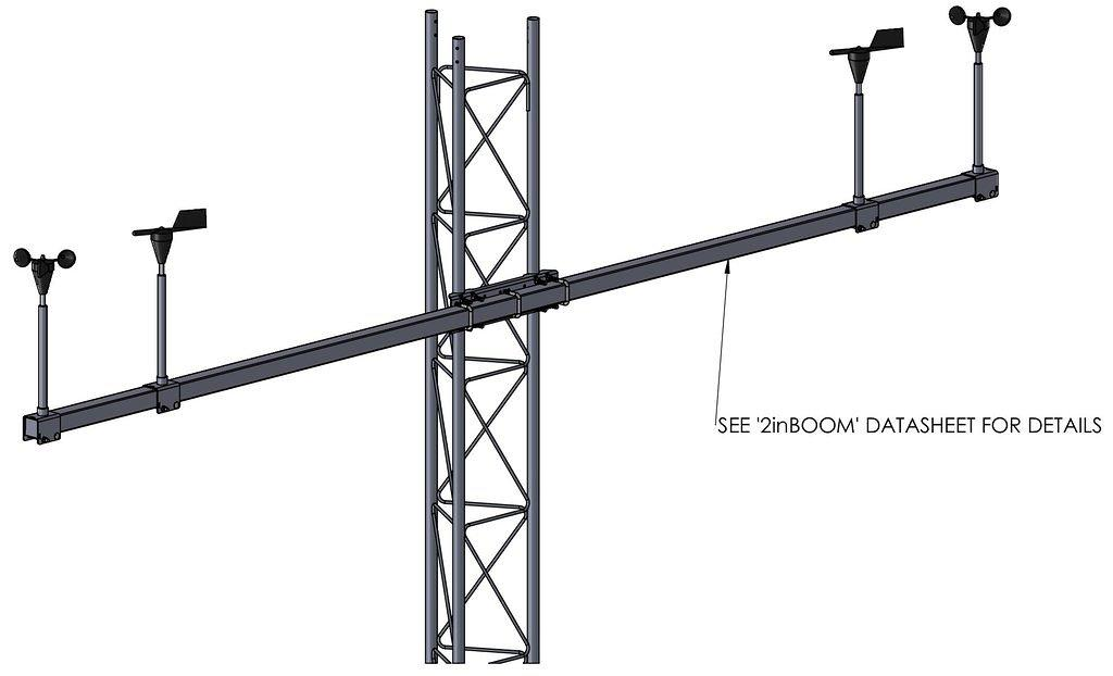 APRS6613_3: Boom Mounting Kit, Rohn 25G Tower, Example