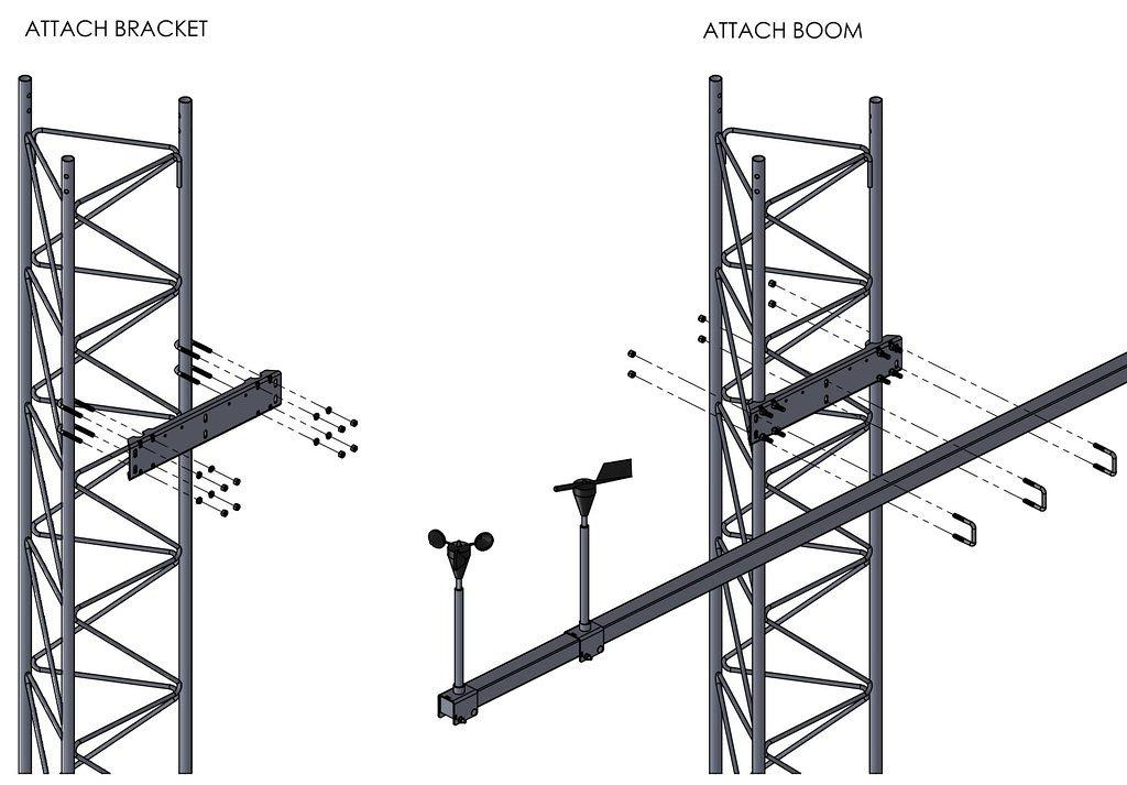 45G Boom Bracket Assembly Illustration