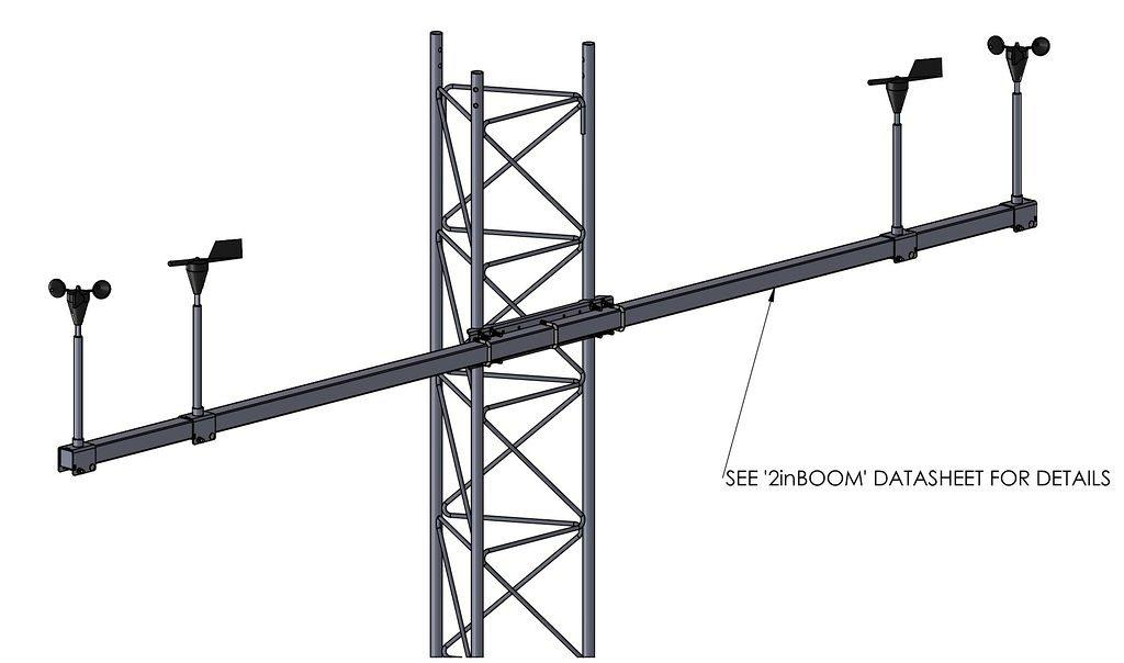 45G Tower with APRS World wind sensor boom