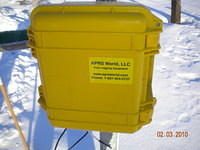 Pelican case protecting the Wind Data Logger from the extreme environment in Alaska