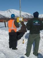 Arrowhead Staff admiring their new Wind Data Logger