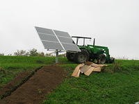 Solar array bolted together