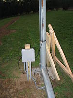 Junction box for power and wind sensor cables