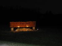 It works! The new Eagle Bluff sign is lit
