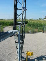 Solar panel, yagi and wind data logger