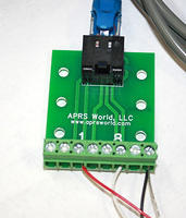 APRS6567: Solar Insolation Sensor Connected to RJ-45 Breakout Board and Wind Data Logger
