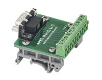 APRS6591: DB9 Male Breakout Board to Screw Terminals, DIN Rail Mountable