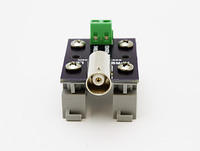 APRS6599: Power jack (2.1 mm x 5.5 mm) breakout board to screw terminals, with DIN rail clips