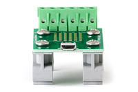 APRS6865 USB Micro Breakout Board to Screw Terminals with DIN Rail Clips