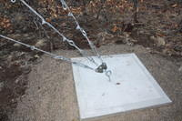 APRS6616_2: Tower Load Equalizing Plate Installed on Guy Point for 50' Tilt Over Tower