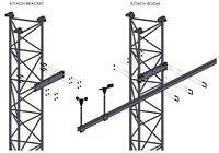 APRS6614: Boom Mounting Kit, Bergey GL Tower