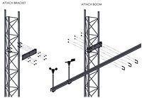 APRS6613_1: Boom Mounting Kit, Rohn 25G Tower