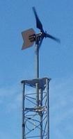 Example of APRS World WT10 Wind Turbine Mounted to Rohn 45G Tower Using Top Plate