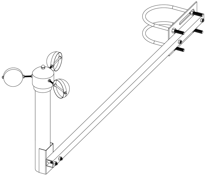 Mechanical diagram for mounting arm